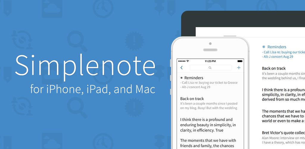 Simplenote for iOS full screenshot
