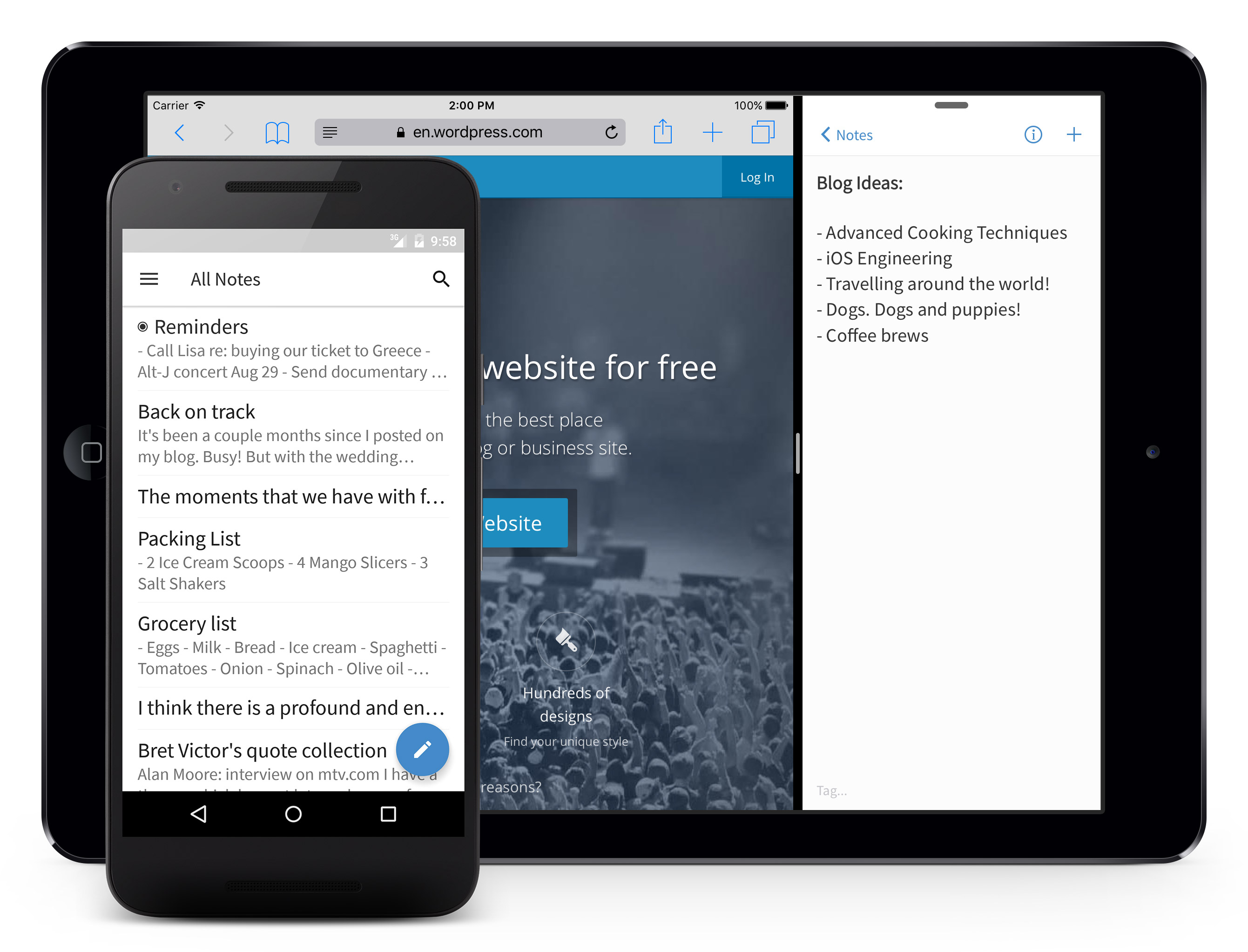 android | Simplenote