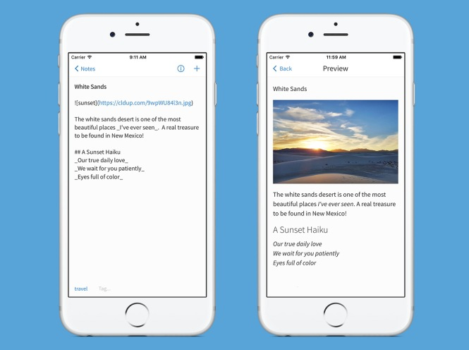 Markdown Added in Latest iOS App Update | Simplenote